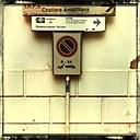 Italy, Campania, Amalfi Coast, street sign - STE000061