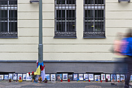 Germany, Berlin, embassy of Ukraine with photographies, candles and flowers for remembrance of victims of Maidan and Odessa - CM000139