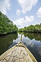 Indonesia, Riau Islands, Bintan Island, Mangrove forest, Boat - THAF000386