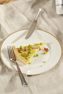 Homemade pea and ham quiche - CHF000069