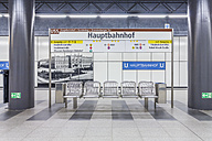 Germany, Berlin, modern architecture of subway station Hauptbahnhof, central station - NKF000130