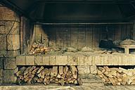 Croatia, Dalmatia, Fireplace in garden of a house - MEMF000050