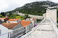 Croatia, Peljesac, Ston, Historic old town with city wall - WEF000097
