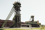 Germany, North Rhine-Westphalia, Ahlen, Headframes of the former Coal Mine Westfalen - MEM000055