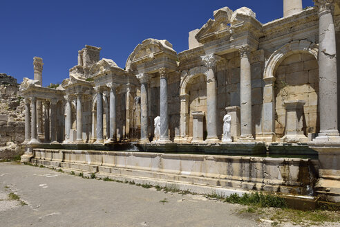 Turkey, Antalya Province, Pisidia, Reconstructed antique nymphaeum, Archaeological site of Sagalassos - ES001154
