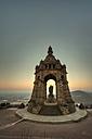 Germany, North Rhine-Westphalia, Porta Westfalica, view to Emperor-Wilhelm monument at twilight - PA000663