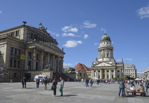 Germany, Berlin, Gendarmenmarkt, French Cathedral and concert hall - HHEF000084