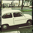 Claasic car, Fiat 500 in Santa Cruz de La Palma, Canary Iceland, Spain - SE000700