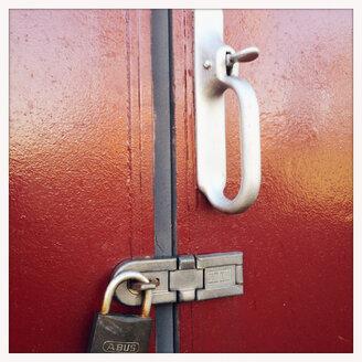 Wagon door of an old railway wagons, Hamburg, Germany - MEM000058