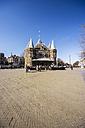 Netherlands, Holland, Amsterdam, Nieuwmarkt, Waag, Weigh house with pavement cafe - THAF000422