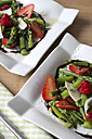 Green asparagus, strawberries, rocket and Parmesan - YFF000151