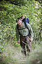 Germany, Rhineland-Palatinate, Moselsteig, father and his little son hiking - PA000696