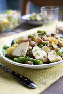 Westphalian blind hen, Traditional Westphalian stew with potatoes, white beans, green beans, apple, pear and tempeh - HAWF000220