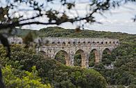 France, Languedoc Roussillon, Gard, view to Pont du Gard - JBF000097
