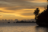 Micronesia, Palau, tropical island in evening light - JWAF000054