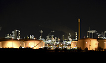 Germany, Chemical industrial plant , Refinery at night - SCH000278