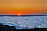 Spain, Menorca, sunset over the Mediterranean Sea - MEM000180