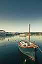Spain, Menorca, boat in harbor - MEM000183