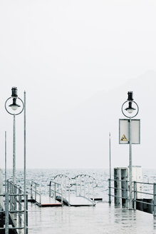 Switzerland, empty landing stage at Lake Lucerne - MEM000192