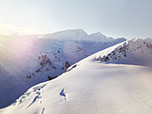 Aerial view of a snow landscape from the Helokopter, Alaska, USA - BMA000018