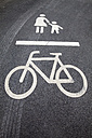 Road marking for pedestrians and cyclists - WIF000754