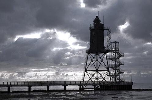 Germany, Lower Saxony, Lighthouse Obereversand near Dorum - OLE000019