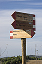 Italy, Tuscany, Signpost - MYF000342