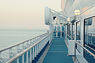 Germany, Baltic Sea, On board of a cruise ship in the morning - MEM000201
