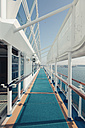 Germany, Warnemuende, Baltic Sea, On board of a cruise ship in the morning - MEM000209