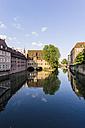 Germany, Bavaria, Nuremberg, view to Heilig-Geist-Spital at Pegnitz River - THAF000484