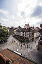 Germany, Bavaria, Nuremberg, view to place and typical inn from above - THAF000481