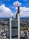Germany, Hesse, Frankfurt, view to building of Commerzbank and city from above - AM002391