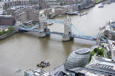 Great Britain, Endland, London, Southwark, View from The Shard to Tower Bridge - WEF000135