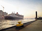 Queen Mary 2 in the harbor, Hamburg, Hamburg, Germany - MS004026