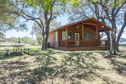 USA, Texas, Log home cabin - ABAF001361