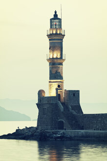 Greece, Crete, Chania, lighthouse - MEM000238
