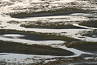 New Zealand, Golden Bay, Puponga, tidal gullies in Golden Bay - SHF001480
