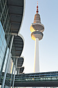 Germany, Hamburg, view to television tower and trade fair building - MSF004054