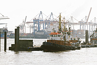 Germany, Hamburg, Port of Hamburg, Elbe river, Towboats - KRP000549