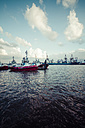 Germany, Hamburg, Port of Hamburg, Elbe river, Towboats - KRP000553