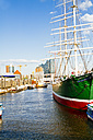 Germany, Hamburg, Sailing ship Rickmer Rickmers, Elbe Philharmonic Hall in the background - KRP000557