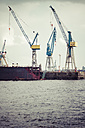 Germany, Hamurg, cranes at container terminal Tollerort - KRP000624
