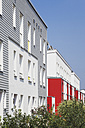 Germany, Cologne Widdersdorf, facades of modern multi-family houses - GWF003552