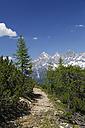 Austria, Styria, Liezen District, Tauern, View to Dachstein, Hiking path - GFF000519