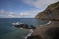 Portugal, Azores, Sao Miguel, volcanic beach - ZCF000103