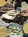 Morocco, Marrakech, spices in souq - AMF002458