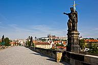 Czech Republic, Prague, Charles Bridge, Statue of St. John the Baptist - AMF002474