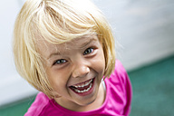 Portrait of laughing little girl - JFEF000435