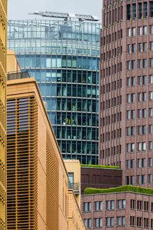 Germany, Berlin, partial view of facades at Potsdam Square - BIGF000012