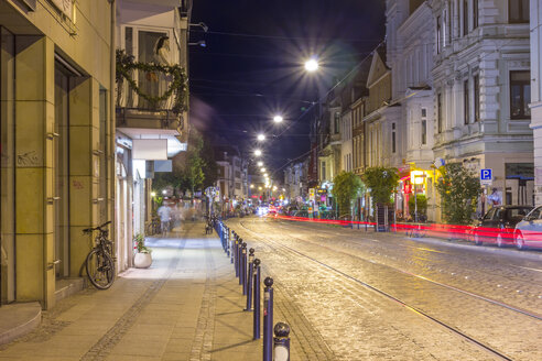 Germany, Bremen, Ostertorsteinweg, a street in the nightclub district - NKF000160